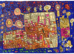 段喬茵(得獎作品) 城市裡的小房間 54.5 X 39.3cm 彩色筆、紙本 缺年份