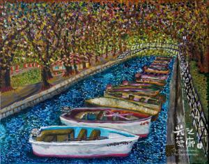 公園小船 92x116cm 油彩畫布 2010