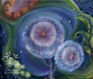 陳雯柔 詩思 53x45cm 油畫 2012